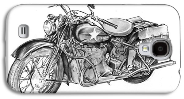 Ww2 Military Motorcycle Galaxy S4 Case