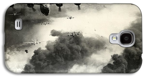 Wwii B-24 Liberators Over Ploesti Galaxy S4 Case by Historic Image
