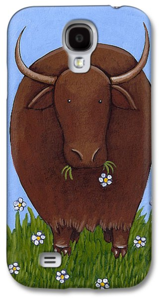 Whimsical Yak Painting Galaxy S4 Case by Christy Beckwith