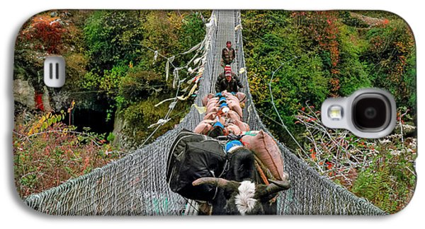 Yaks On Rope Bridge Galaxy S4 Case by Babak Tafreshi