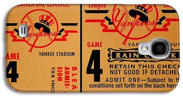 Yankees 4th Straight - Vintage Galaxy S4 Case by Benjamin Yeager