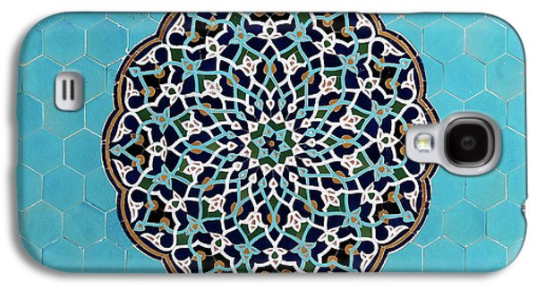 Yazd Mosque Tiles Galaxy S4 Case by Babak Tafreshi
