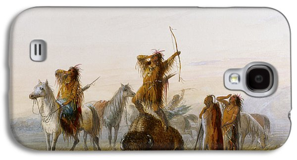 Yell Of Triumph Buffalo Galaxy S4 Case by Alfred Jacob Miller