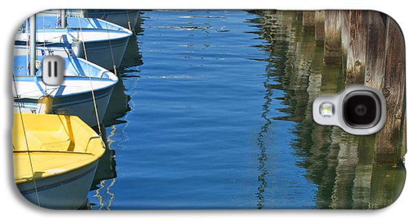 Yellow And Blue Sailboats From The Book My Ocean Galaxy S4 Case
