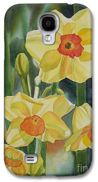 Yellow And Orange Narcissus Galaxy S4 Case by Sharon Freeman