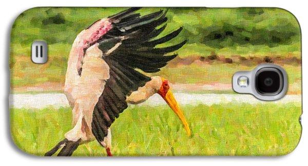 Yellow-billed Stork Galaxy S4 Case