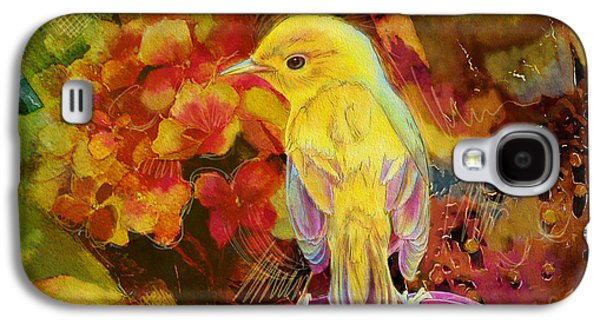 Yellow Bird Galaxy S4 Case by Catf
