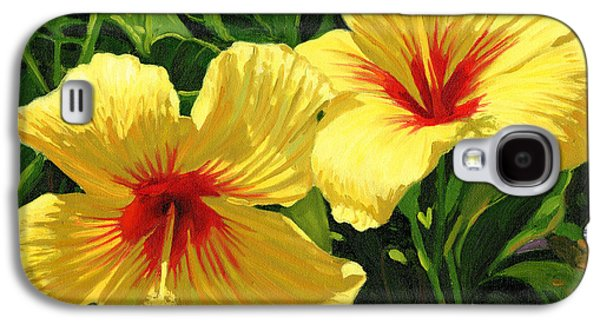 Yellow Hibiscus Galaxy S4 Case by Steve Simon