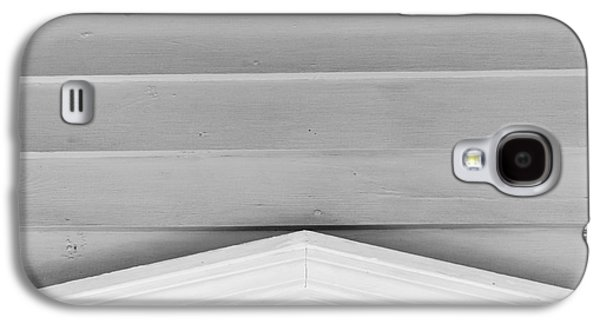Yellow Hibiscus Wall Detail Key West - Square - Black And White Galaxy S4 Case by Ian Monk