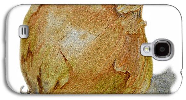 Yellow Onion Galaxy S4 Case by Irina Sztukowski