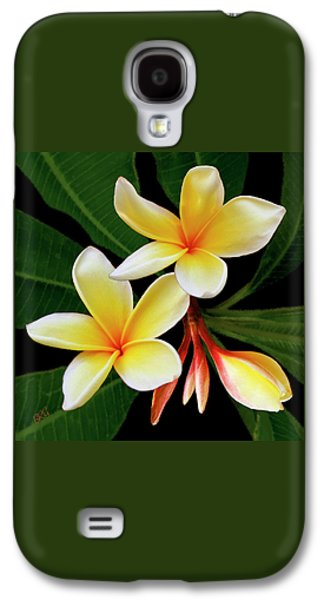 Yellow Plumeria Galaxy S4 Case by Ben and Raisa Gertsberg