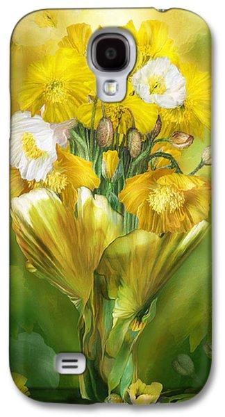 Yellow Poppies In Poppy Vase Galaxy S4 Case