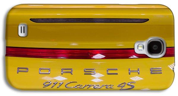yellow Porsche Galaxy S4 Case by Stelios Kleanthous