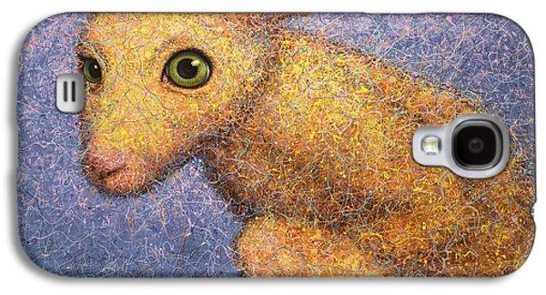 Yellow Rabbit Galaxy S4 Case by James W Johnson