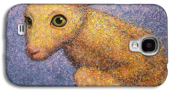 Rabbit Galaxy S4 Case - Yellow Rabbit by James W Johnson