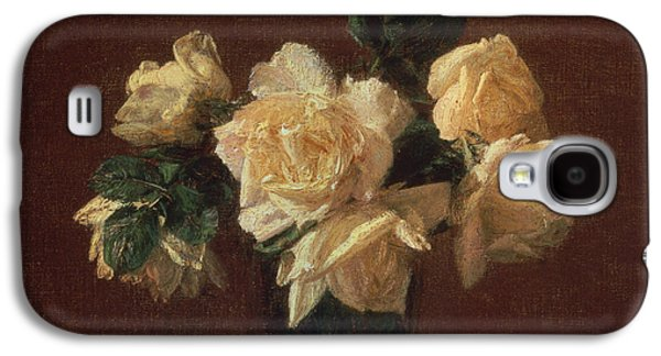 Yellow Roses Galaxy S4 Case by Ignace Henri Jean Fantin-Latour