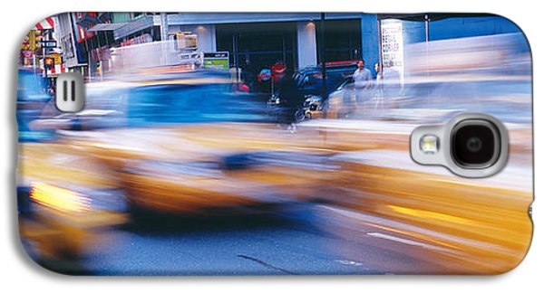Yellow Taxis On The Road, Times Square Galaxy S4 Case