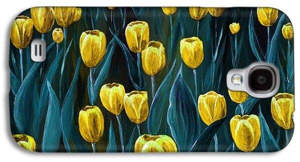 Yellow Tulip Field Galaxy S4 Case by Anastasiya Malakhova