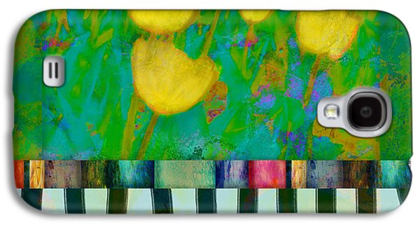Yellow Tulips Abstract Art Galaxy S4 Case