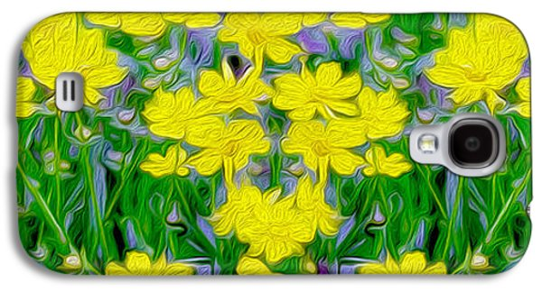 Yellow Wild Flowers Galaxy S4 Case