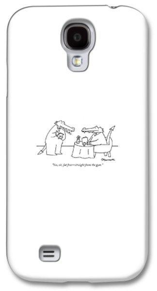 Reptiles Galaxy S4 Case - Yes, Sir, Fat Free - Straight From The Gym by Charles Barsotti