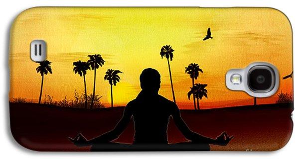 Yoga At Sunrise Galaxy S4 Case