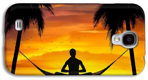 Yoga At Sunset Galaxy S4 Case