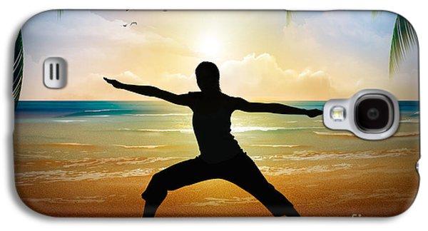 Yoga On Beach Galaxy S4 Case