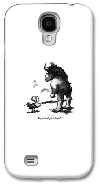 Minotaur Galaxy S4 Case - You Just Don't Get by Eldon Dedini
