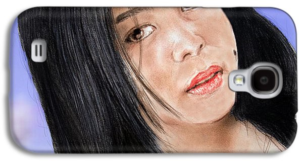 Young Filipina Beauty With A Mole Model Kaye Anne Toribio  Altered Version Galaxy S4 Case by Jim Fitzpatrick