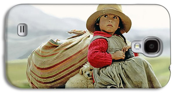 Young Girl In Peru Galaxy S4 Case