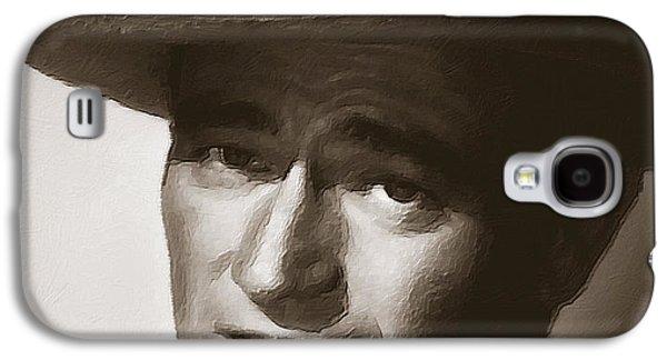 Young John Wayne Painting Traditional Galaxy S4 Case
