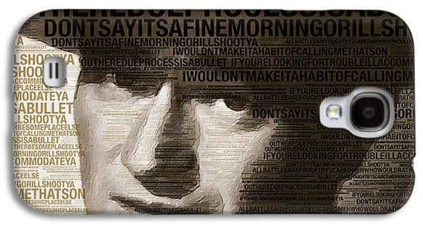 Young John Wayne Painting With Quotes Galaxy S4 Case