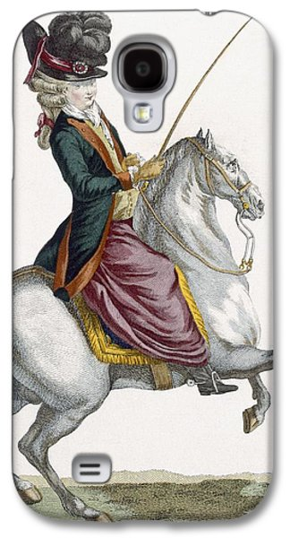 Young Lady Riding A Horse, Engraved Galaxy S4 Case by Pierre Thomas Le Clerc