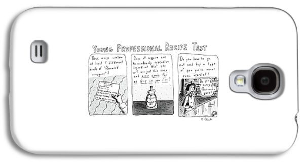 Young Professional Recipe Test Galaxy S4 Case by Roz Chast