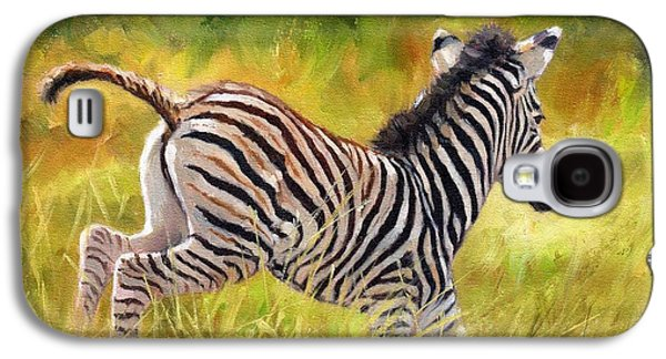 Young Zebra Galaxy S4 Case by David Stribbling