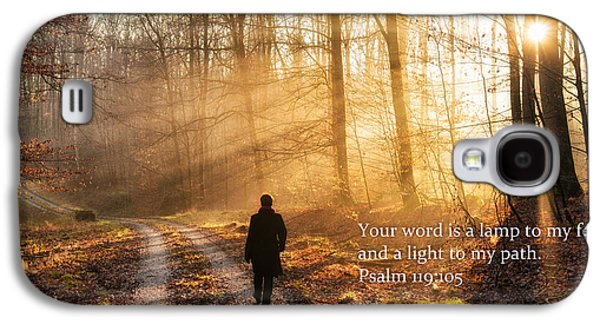 Your Word Is A Light To My Path Bible Verse Quote Galaxy S4 Case