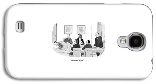 You're Late Galaxy S4 Case by Danny Shanahan