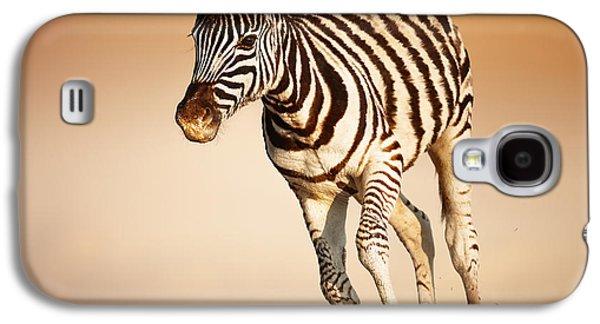 Zebra Calf Running Galaxy S4 Case by Johan Swanepoel