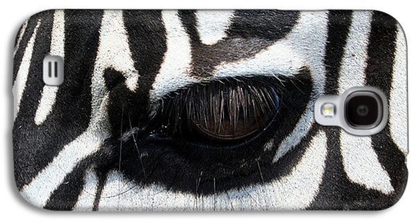 Zebra Eye Galaxy S4 Case by Linda Sannuti