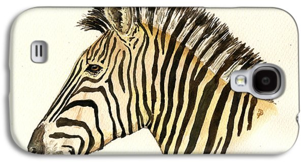 Zebra Head Study Galaxy S4 Case by Juan  Bosco