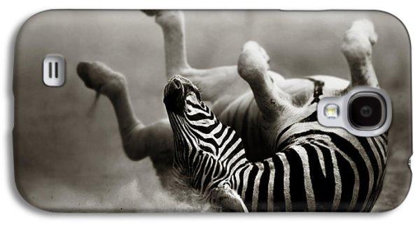 Zebra Rolling Galaxy S4 Case by Johan Swanepoel