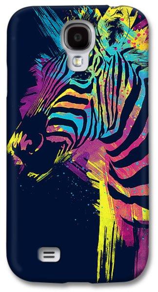 Colorful Galaxy S4 Case - Zebra Splatters by Olga Shvartsur