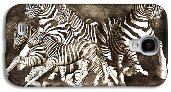 Zebras Galaxy S4 Case by Betsy Knapp