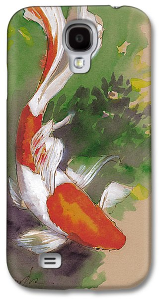 Zen Comet Goldfish Galaxy S4 Case by Tracie Thompson