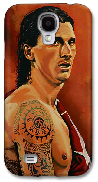 Zlatan Ibrahimovic Painting Galaxy S4 Case by Paul Meijering