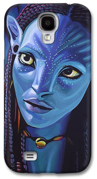 Zoe Saldana As Neytiri In Avatar Galaxy S4 Case by Paul Meijering
