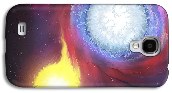 A Binary Star System Galaxy S4 Case