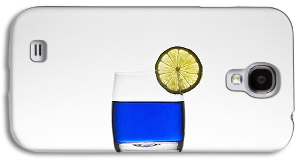 Blue Cocktail With Lemon Galaxy S4 Case