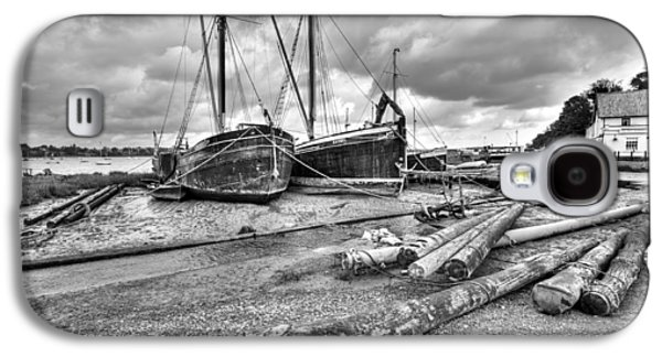 Boats And Logs At Pin Mill  Galaxy S4 Case